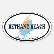 Bethany Beach DE - Seashells Design Sticker (Oval)