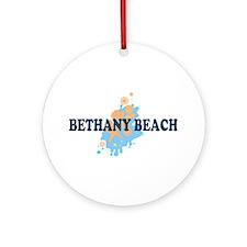 Bethany Beach DE - Seashells Design Ornament (Roun