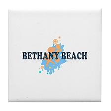 Bethany Beach DE - Seashells Design Tile Coaster