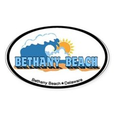 Bethany Beach DE - Waves Design Decal
