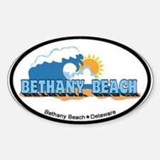 Bethany Beach DE - Waves Design Sticker (Oval)