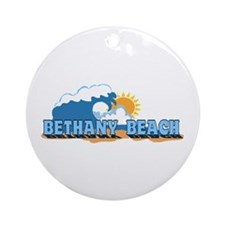 Bethany Beach DE - Waves Design Ornament (Round)