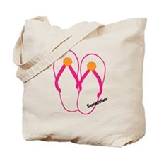 Flip Flop tote bag. Design on both sides!