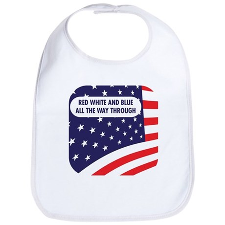 Red White & Blue all The Way Bib