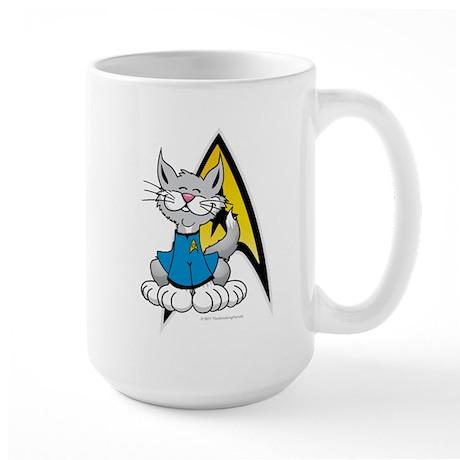Star Trek Spock Cat Large Mug
