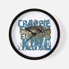 Crappie Fishin' King Wall Clock