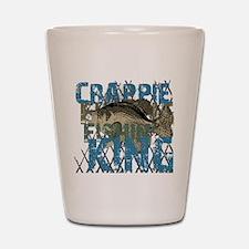 Crappie Fishin' King Shot Glass