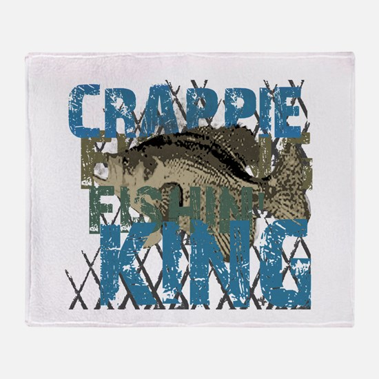 Crappie Fishin' King Throw Blanket