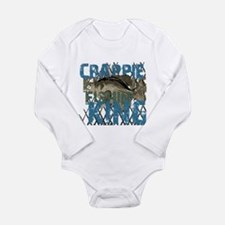 Crappie Fishin' King Long Sleeve Infant Bodysuit