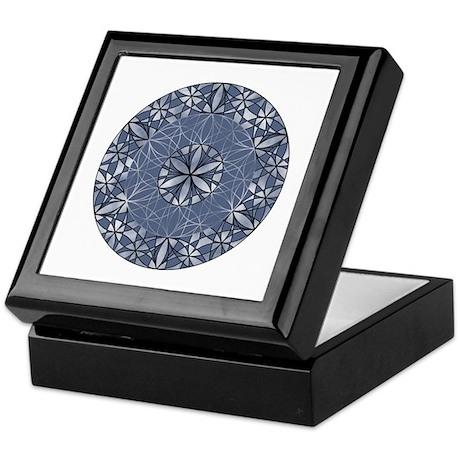 Sacred Geometry in Blue Keepsake Box