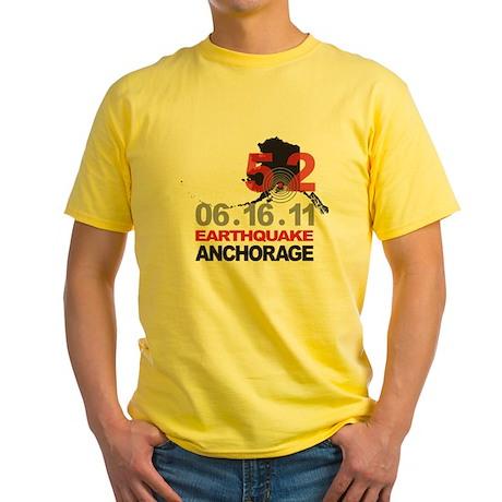 Alaska Earthquake 2011 Yellow T-Shirt