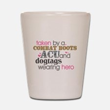 Funny Army sister Shot Glass