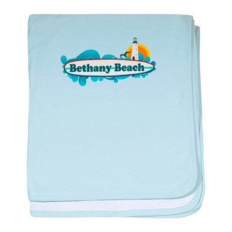 Bethany Beach DE - Surf Design. baby blanket
