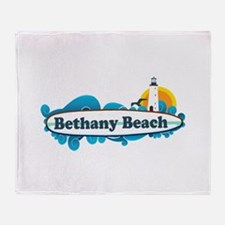 Bethany Beach DE - Surf Design. Throw Blanket