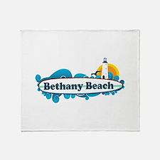 Bethany Beach DE - Surf Design. Throw Blanket