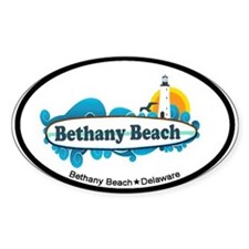 Bethany Beach DE - Surf Design. Decal