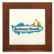 Bethany Beach DE - Surf Design. Framed Tile