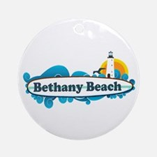 Bethany Beach DE - Surf Design. Ornament (Round)