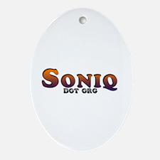 Soniq.org Oval Ornament