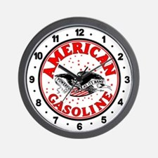 American Gasoline Wall Clock