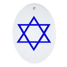STAR OF DAVID Ornament (Oval)