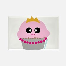 """Cupcake Princess"" Rectangle Magnet"