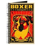 BOXER Rebellion! Vintage Dog Journal