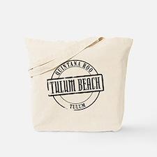 Tulum Beach Title Tote Bag
