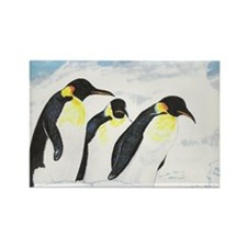 Penguins- God's Creatures Rectangle Magnet (100 pa