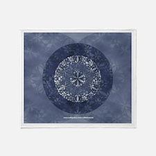 Sacred Geometry in Blue Throw Blanket