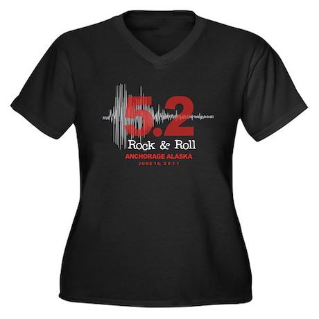 Alaska Earthquake 2011 Women's Plus Size V-Neck Da