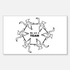 We Are Team Rectangle Decal