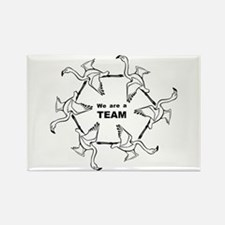 We Are Team Rectangle Magnet