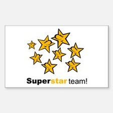 SuperStar Team Rectangle Decal