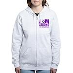 I am Strong Pancreatic Cancer Women's Zip Hoodie