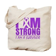 I am Strong Pancreatic Cancer Tote Bag