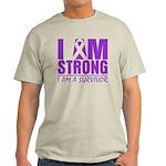 I am Strong Pancreatic Cancer Light T-Shirt