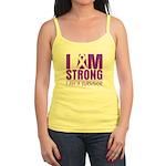 I am Strong Pancreatic Cancer Jr. Spaghetti Tank