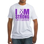 I am Strong Pancreatic Cancer Fitted T-Shirt