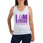 I am Strong Pancreatic Cancer Women's Tank Top