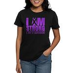 I am Strong Pancreatic Cancer Women's Dark T-Shirt