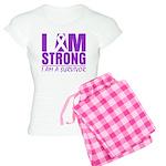 I am Strong Pancreatic Cancer Women's Light Pajama