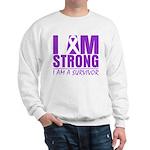 I am Strong Pancreatic Cancer Sweatshirt