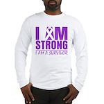 I am Strong Pancreatic Cancer Long Sleeve T-Shirt