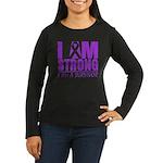I am Strong Pancreatic Cancer Women's Long Sleeve