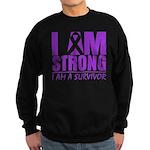 I am Strong Pancreatic Cancer Sweatshirt (dark)