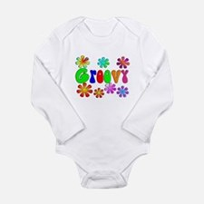 Retro Vintage 70's Long Sleeve Infant Bodysuit