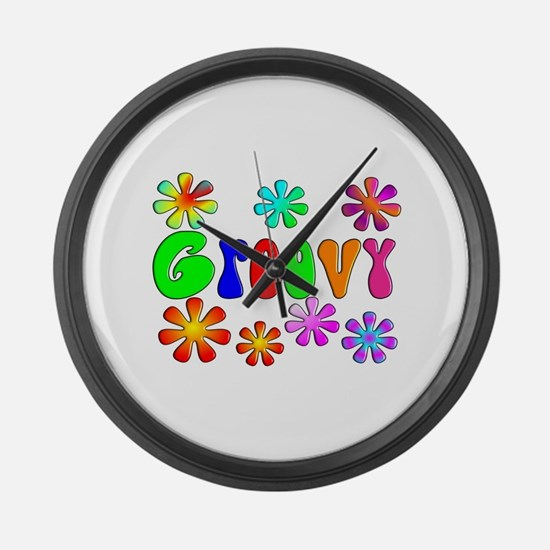 Retro Vintage 70's Large Wall Clock