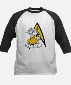 Star Trek Kirk Cat Kids Baseball Jersey