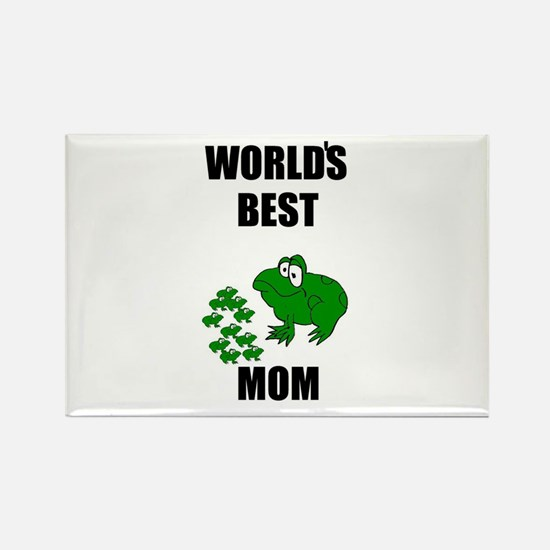 WORLD'S BEST MOM (FROGS) Rectangle Magnet